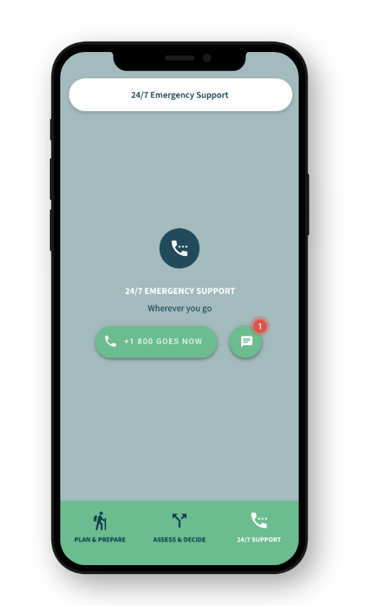 GOES Health App: 24/7 Emergency Support