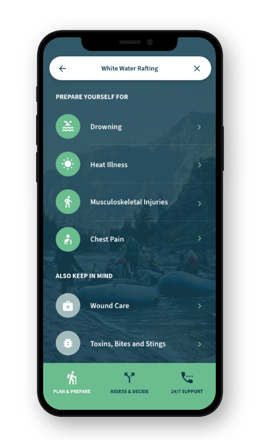 GOES Health App: Activity-Based Outdoor Health Guide